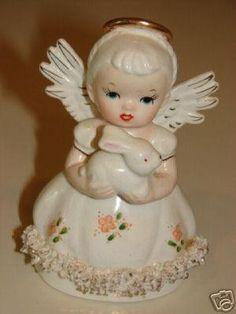 Vintage April Figurine Spaghetti Angel Japan Easter | #29308250