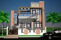 modern 3d small house front elevation design