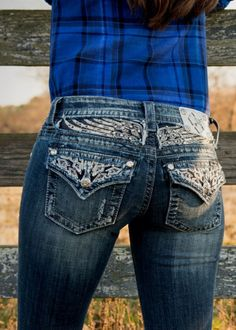 Love these jeans with silver wings!