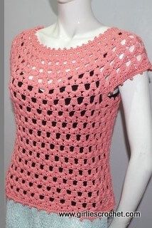 Lea Blouse, #crochet, free pattern, top, #haken, gratis patroon (Engels), trui, top, zomer, #haakpatroon