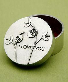 'I Love You' Ladybug Box