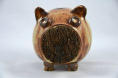 CUTE!!! --- Pottery Piggy Bank, Oatmeal Glaze via Etsy