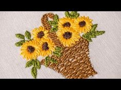 Hand Embroidery | Designs for Baby Clothes | Flower Basket | HandiWorks #47 - YouTube