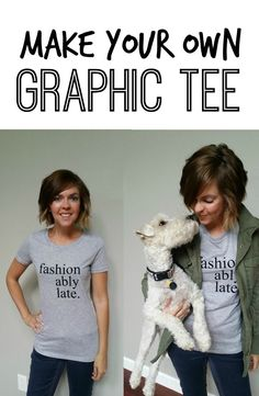 Make Your Own Graphic Tee. Learn how!