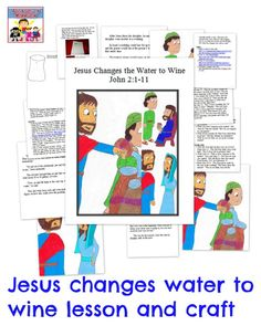 Jesus changes water into wine lesson
