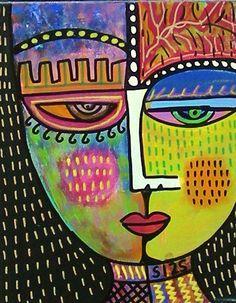 Tribal Gem Spirit Citrine  SILBERZWEIG by SandraSilberzweigArt, $49.00
