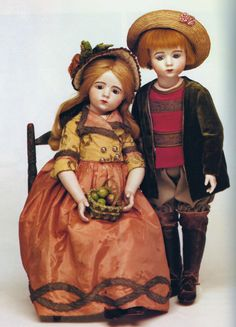 #2 & #3 A Marque pair Mildred Seeley Collection - Emily Hart Dolls