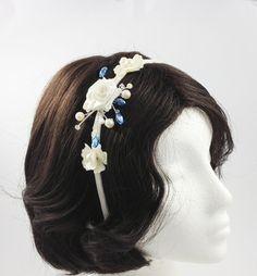 Bridle headband head piece wedding by AnitaHiltonweddings on Etsy, £45.00  Visit at ANITAHILTONWEDDINGS