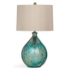 "$285 Bassett Mirror Pan Pacific Mira 31"" Table Lamp"