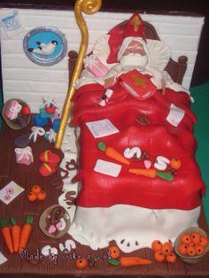 Slaapkamer van Sinterklaas taart