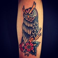 greenpointtattooco:  who, who. @dan_nelson_nyc that's who. #greenpointtattooco #owl #tattoo (at Greenpoint Tattoo Company)