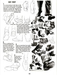 How to draw feet by Jack Hamm
