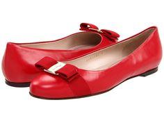 Ferragamo Varina ballet flats in red, black or patent