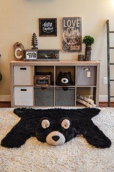 Nursery Bear Rug Minky bear rug Camping nursery decor