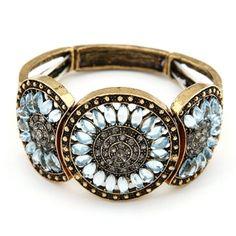 Blue Daisy Vintage Bracelet