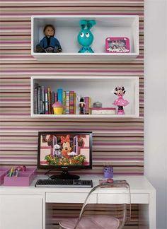 Área de estudo da menina.