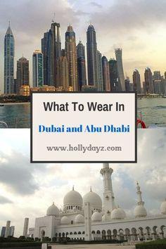 What To Wear In UAE  © 2015 HollyDayz