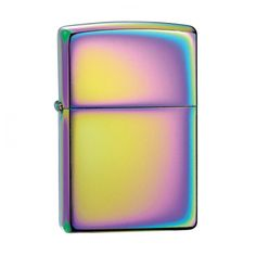 "Zippo Lighter - Spectrum.  Zippos are the ultimate windproof lighter.  All Zippo lighters carry a lifetime guarantee, promoted using the trademarked phrase ""It works or we fix it for free.""  The corporate web site boasts: ""In almost 75 years, no one has ever spent a cent on the mechanical repair of a Zippo lighter regardless of the lighter's age or condition.""  6cm x 4cm.  For more information please click the link or visit dotcombong.com."