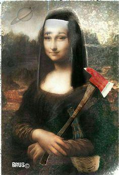 Renaissance Artists, Italian Renaissance, Mona Friends, La Madone, Mona Lisa Parody, Mona Lisa Smile, Guinness World, Many Faces, Funny Art