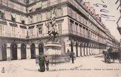 Rue Des Pyramides Satue de Jeanne d'Arc Postcard