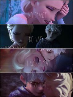 awwww i always lved meg's i wont say im in love and mixed with a jelsa picture is just the most perect thing ever heard or sawn Estilo Disney, Arte Disney, Disney Fan Art, Jelsa, Elsa Frozen, Disney Frozen, Sad Disney, Punk Disney, Funny Disney Memes