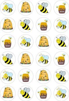 24 Honey Bee Bumble Bee Cupcake Cake Toppers Edible Rice Wafer Paper Decorations in Crafts, Cake Decorating Bumble Bee Cupcakes, Mommy To Bee, Cupcake Cakes, Paper Cupcake, Cupcake Toppers, Bee Party, Bee Crafts, Paper Decorations, Cupcake Decorations