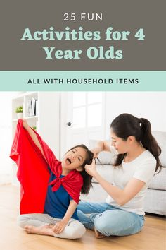 Four is such a fun age, but keeping them entertained can be tricky. Here are 25 fun activities for 4 year olds that you can do right at home! Outside Activities For Kids, 4 Year Old Activities, Summer Activities For Kids, Indoor Activities, Educational Activities, Learning Activities, Free Activities, Learning Toys, Toddler Preschool