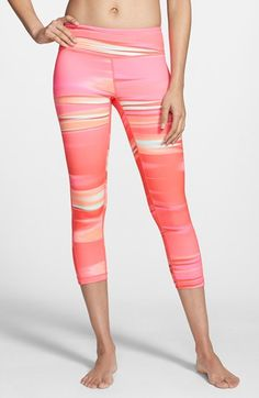 Zella 'Live In' Slim Fit Capri Leggings | Nordstrom. I always say yoga is way more fun with some party pants! These are super cute for summer!