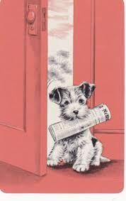 Image result for retro  dog illustration vintage greeting card
