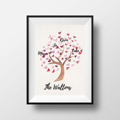 Printable Personalized Family Tree Art at Little Tiger Designs : Holiday Gifts for Grandparents | Cool Mom Picks Holiday Gift Guide 2016