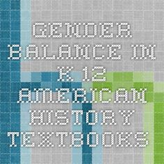 Gender Balance in K-12 American History Textbooks