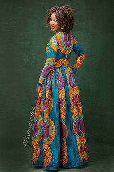 Sandra Maxi dress with pockets African dress Long African