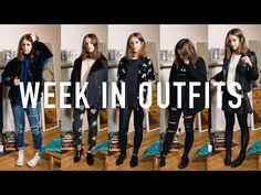 WEEK IN OUTFITS: Everyday Uni Outfits PART II | sunbeamsjess - YouTube