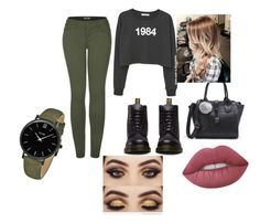 """Untitled #1"" by madalinarotaru ❤ liked on Polyvore featuring MANGO, Dr. Martens, 2LUV, Lime Crime and CLUSE"
