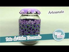 Como decorar um Pote de vidro com EVA - Artesanato Danyprint - YouTube Lunch Box, Youtube, Youtubers, Youtube Movies
