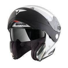 casco moto apribile bianco Shark Modulare Discovery Division...