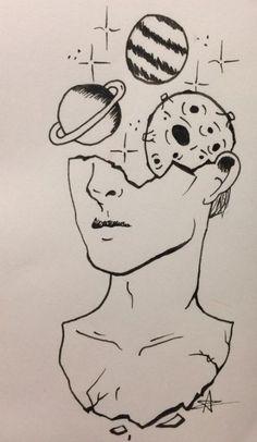 drawings drawing boy lapiz alien easy cool pencil sketches space womensbest ru