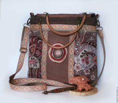 Гобеленовая сумка, сумка через плечо, оригинальная сумка в подарок, сумка в бохо стиле, сумка этническая, этно сумка, сумка ручной работы, автор Юлия Льняная сказка