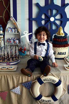 Denizci Temalı 1 Yaş Doğum Günü Partisi - Çilek Workshop