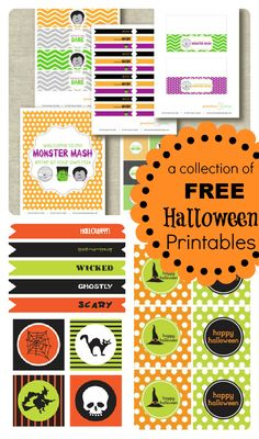 Free halloween printables #party