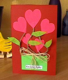 Kartki, laurki, pocztówki.... Valentine Day Cards, Valentines, Art For Kids, Crafts For Kids, Paper Folding, Mother And Father, Diy Paper, Diy Cards, Gifts For Family