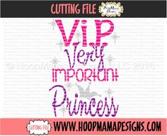 VIP Very Important Princess SVG PNG DXF EPS