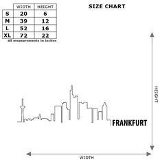 Frankfurt Skyline Wall Decal Cute Vinyl Sticker Home Arts