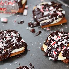 Candy Cane S'mores Recipe - a fun treat for kids and not only to make while waiting for Santa Clause.
