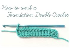 How to Work a Foundation Double Crochet {Photo Tutorial - Petals to Picots - Latest Hairstyles - Latest Hairstyles 2019 Crochet Dishcloths, Tunisian Crochet, Learn To Crochet, How To Double Crochet, Crochet Ripple, Crochet Blankets, Crochet Chain, Easy Crochet, Crochet Ideas