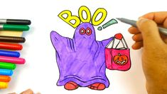 Hallooween Drawing Ghost colouring videos for kids Coloring For Kids, Colouring, Play Doh, Halloween Ghosts, Kids Toys, Eggs, Make It Yourself, Drawings, Videos