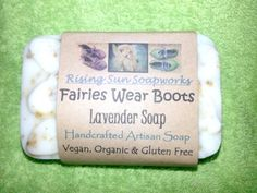Fairies Wear Boots Lavender Soap Natural Home-Crafted, Vegan, Organic & Gluten Free. For more information, visit the link. Lavender Soap, Home Crafts, Fairies, Artisan, Gluten Free, Organic, Vegan, Natural, Boots