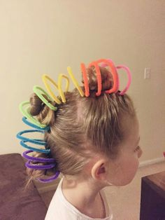 30 Crazy Hair Day Ideas for Girls 30 Crazy H - Hair Styles For School Crazy Hair Day Girls, Crazy Hair For Kids, Crazy Hair Day At School, Days For Girls, Crazy Hair Days, Kids Girls, School Stuff, Crazy Girls, Cute Haircuts