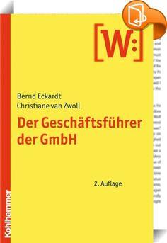Der Geschäftsführer der GmbH    ::  Mit dem Inkrafttreten des Gesetzes zur Modernisierung des GmbH-Rechts und zur Bekämpfung von Missbräuchen (MoMiG) hat sich die zivil- als auch die strafrechtliche Haftung des GmbH-Geschäftsführers verschärft. In der Neuauflage des Buches wird der Geschäftsführer sowohl über die ihn betreffenden Neuregelungen des MoMiG als auch zu allen ihn sonst bewegenden Fragen - von A wie Anstellungsvertrag bis Z wie Zahlungsunfähigkeit - informiert. Es gehört auf...
