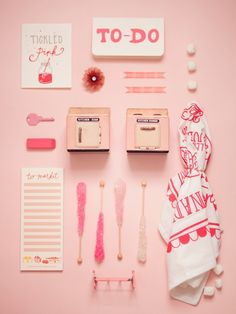 The art of knolling, pink Flat Lay Photography, Still Life Photography, Product Photography, Pink Tax, Things Organized Neatly, Ojamajo Doremi, Red Aesthetic, Aesthetic Vintage, Prop Styling